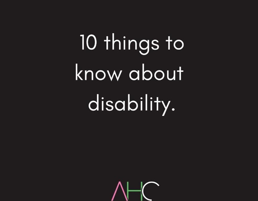 10 things to know about disability.