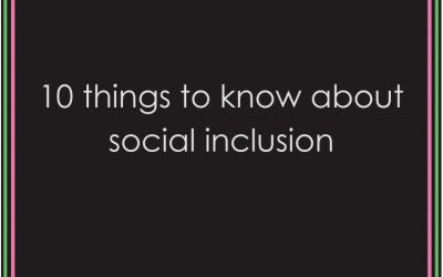 10 things to know about social inclusion.