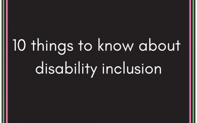 10 things to know about disability inclusion.